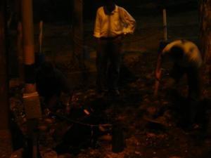 Digging in the dark