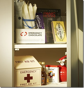 panic room with emergency chocolae